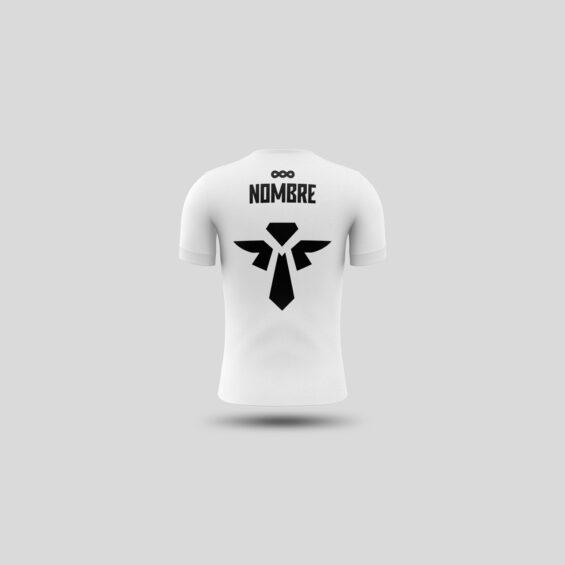 camiseta técnica blanca trasera